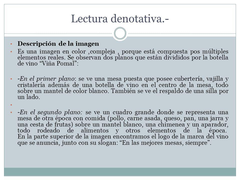Lectura denotativa.- Descripción de la imagen