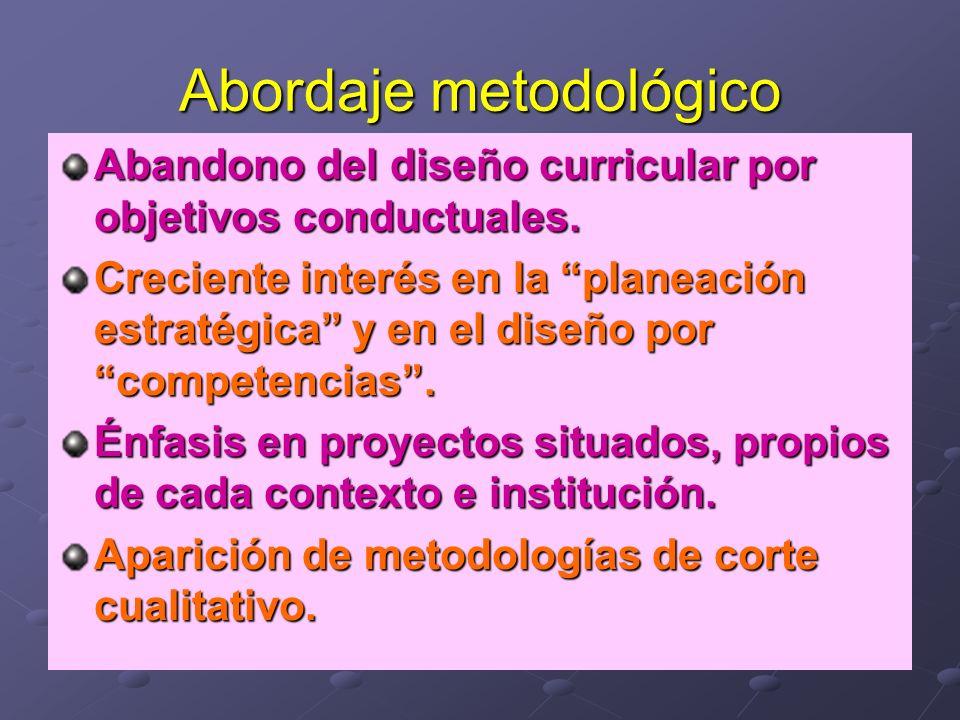 Abordaje metodológico