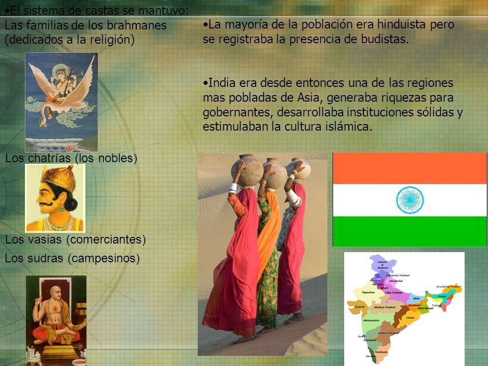 El sistema de castas se mantuvo: