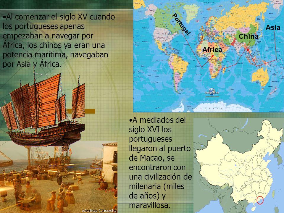 Al comenzar el siglo XV cuando los portugueses apenas empezaban a navegar por África, los chinos ya eran una potencia marítima, navegaban por Asia y África.