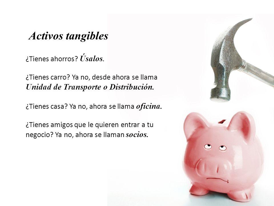 Activos tangibles ¿Tienes ahorros Úsalos.