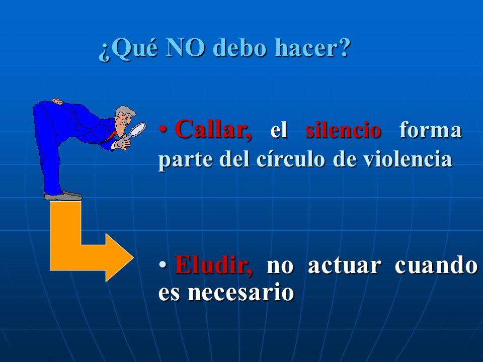 Callar, el silencio forma parte del círculo de violencia