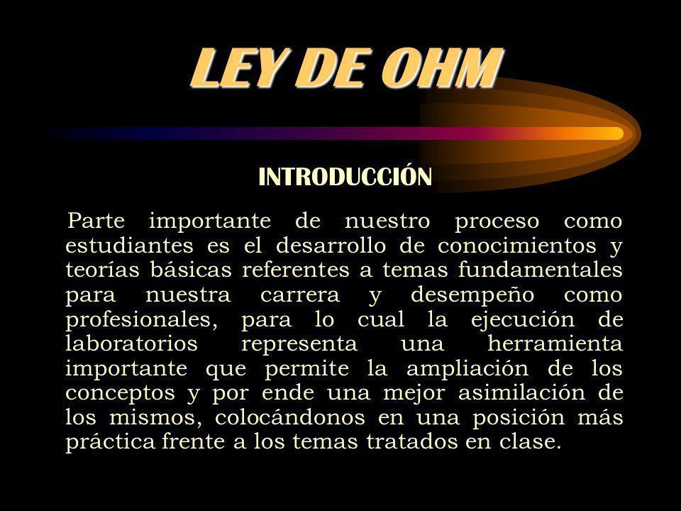 LEY DE OHM INTRODUCCIÓN