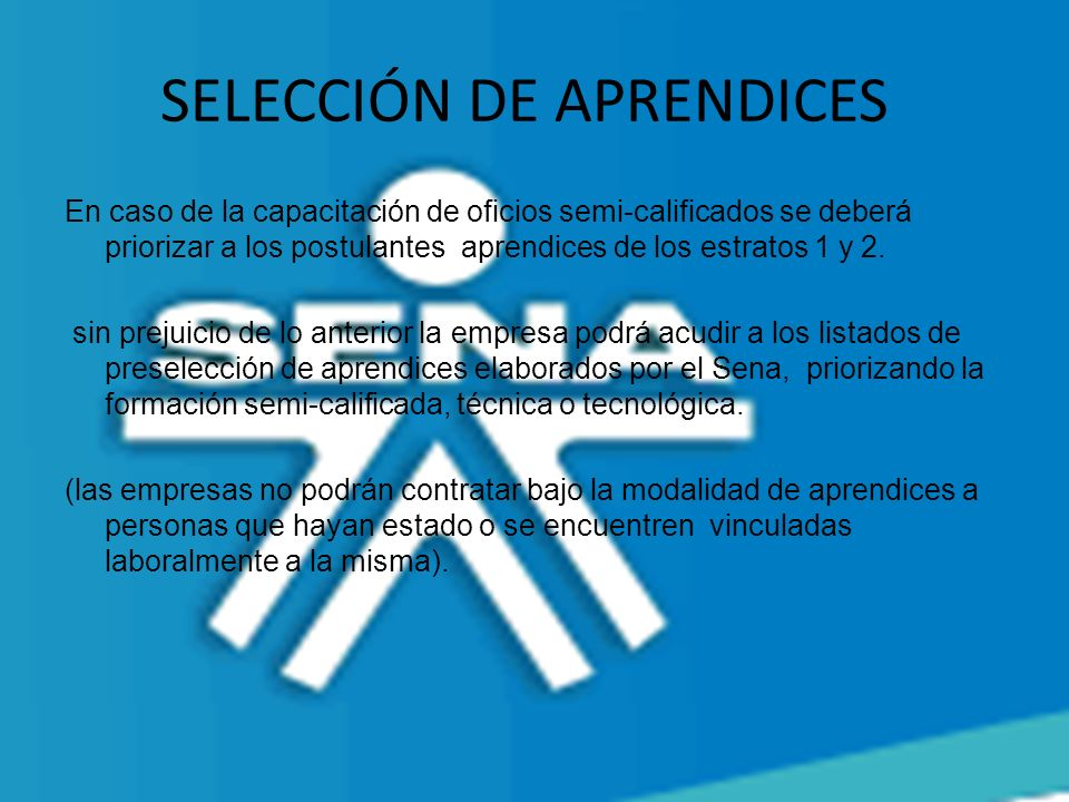 SELECCIÓN DE APRENDICES