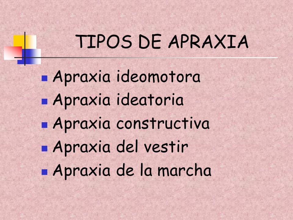 TIPOS DE APRAXIA Apraxia ideomotora Apraxia ideatoria