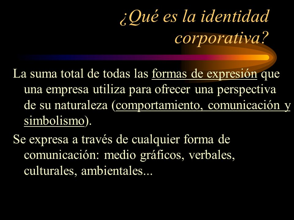 ¿Qué es la identidad corporativa