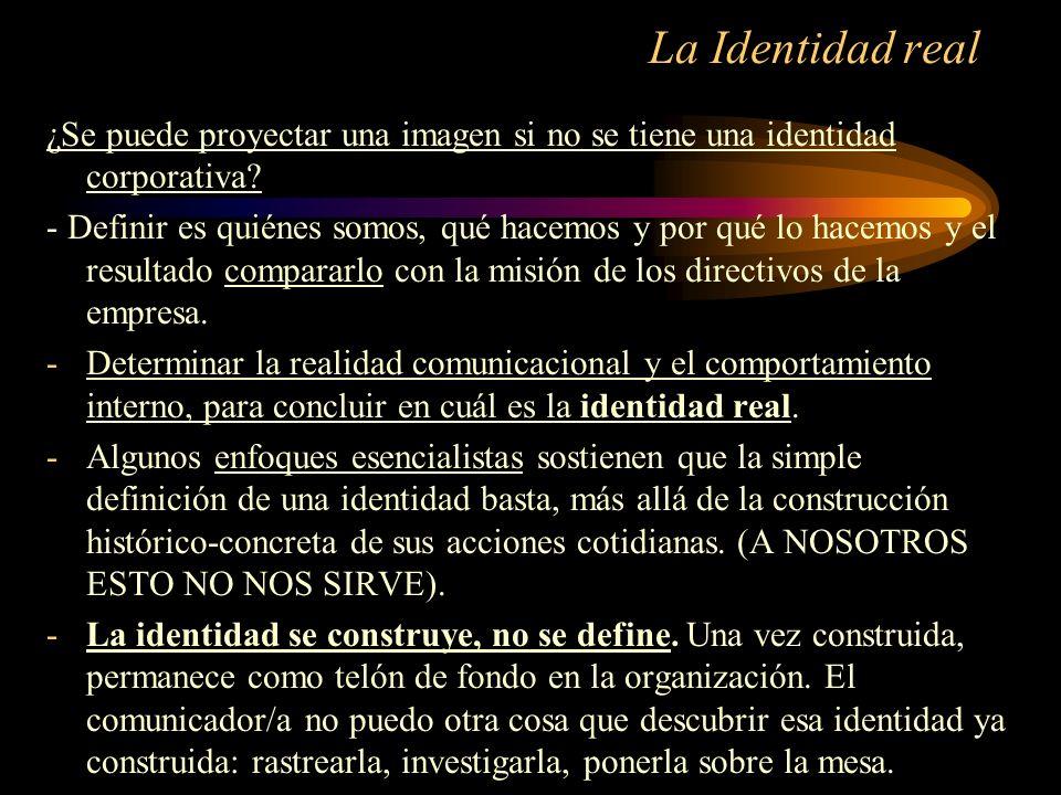 La Identidad real ¿Se puede proyectar una imagen si no se tiene una identidad corporativa