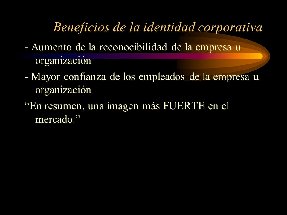 Beneficios de la identidad corporativa