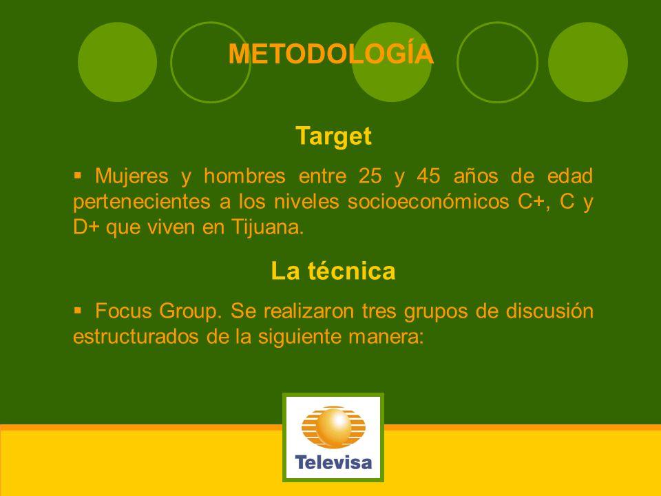 METODOLOGÍA Target La técnica