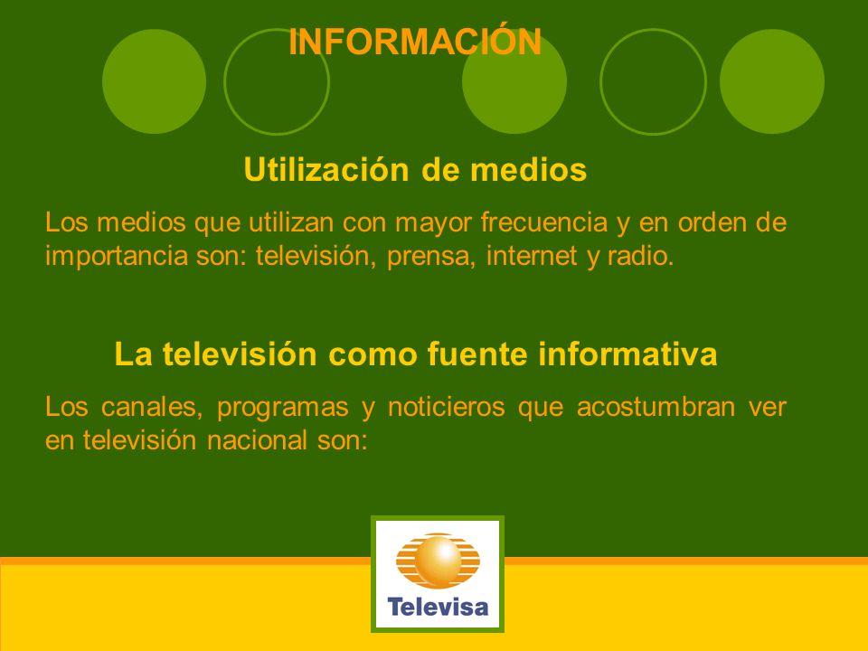 La televisión como fuente informativa
