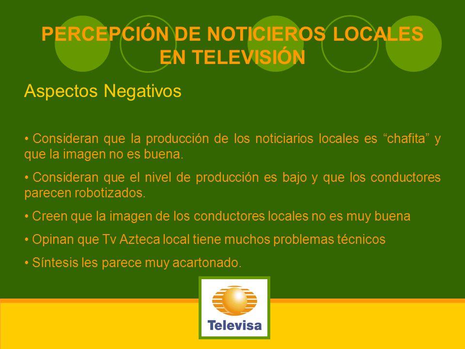 PERCEPCIÓN DE NOTICIEROS LOCALES EN TELEVISIÓN