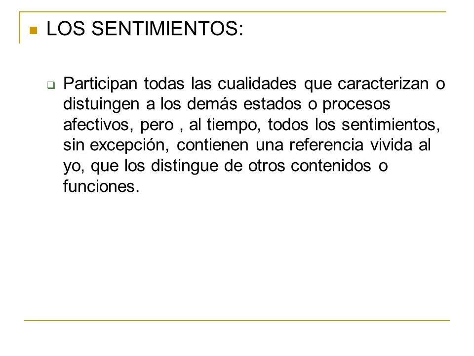 LOS SENTIMIENTOS: