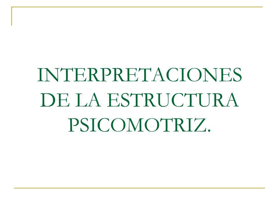 INTERPRETACIONES DE LA ESTRUCTURA PSICOMOTRIZ.
