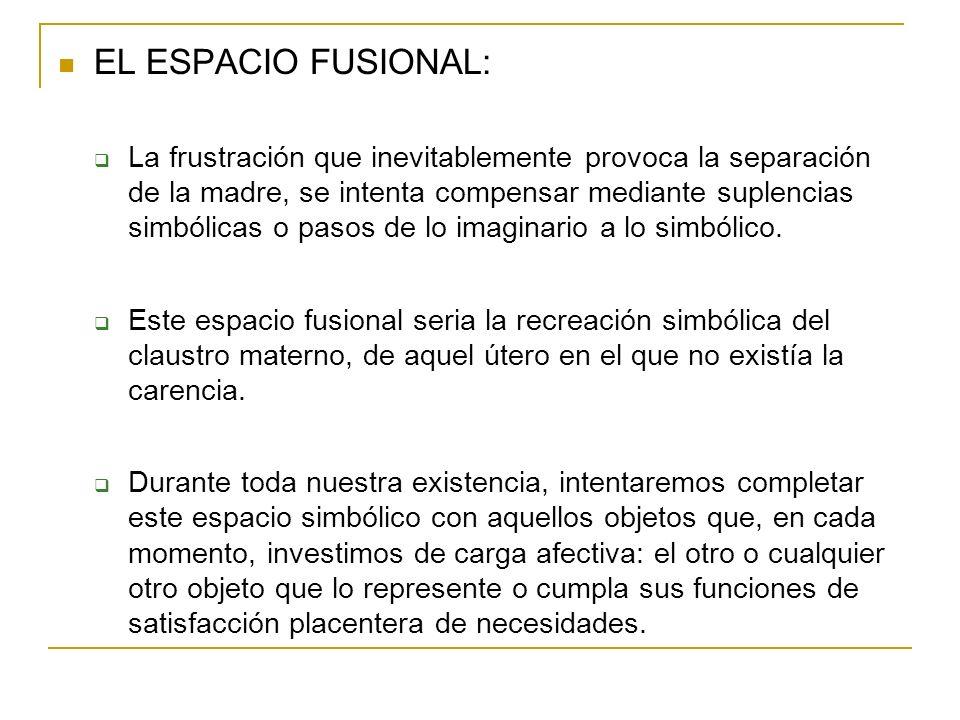 EL ESPACIO FUSIONAL: