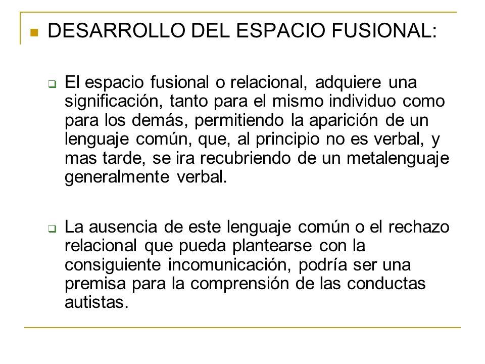 DESARROLLO DEL ESPACIO FUSIONAL: