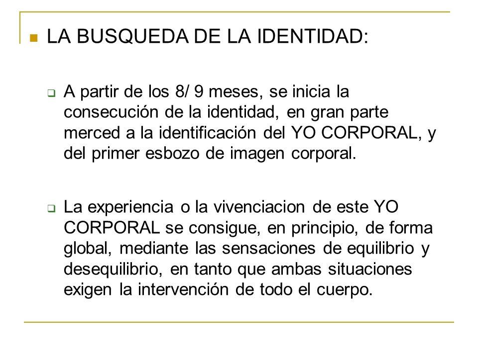 LA BUSQUEDA DE LA IDENTIDAD: