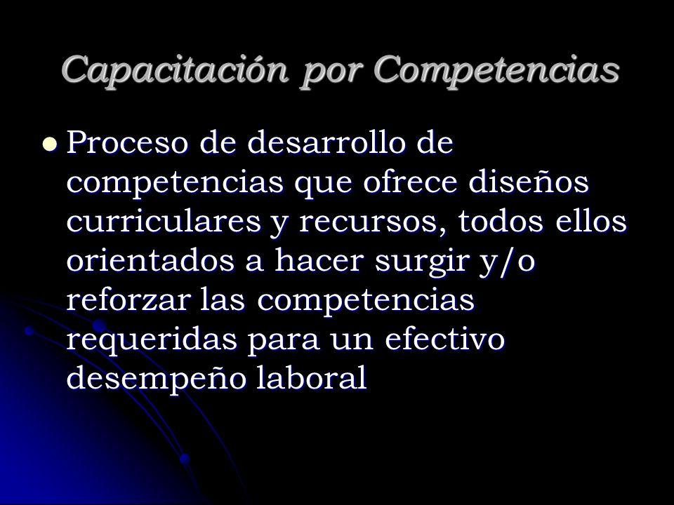 Capacitación por Competencias