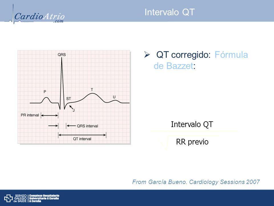 QT corregido: Fórmula de Bazzet: