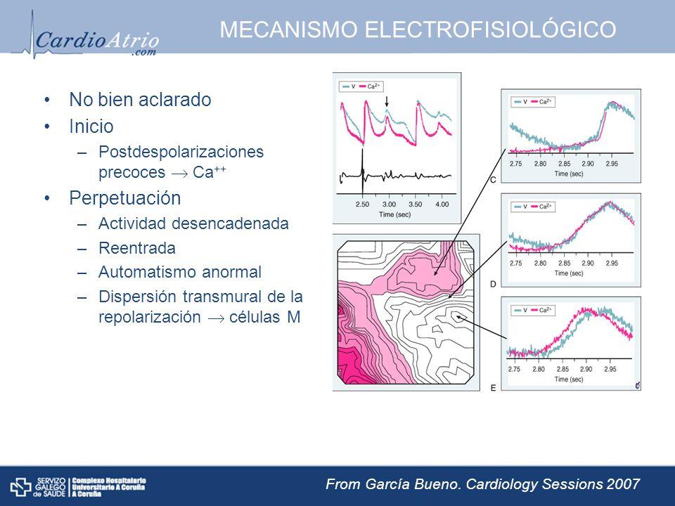 MECANISMO ELECTROFISIOLÓGICO