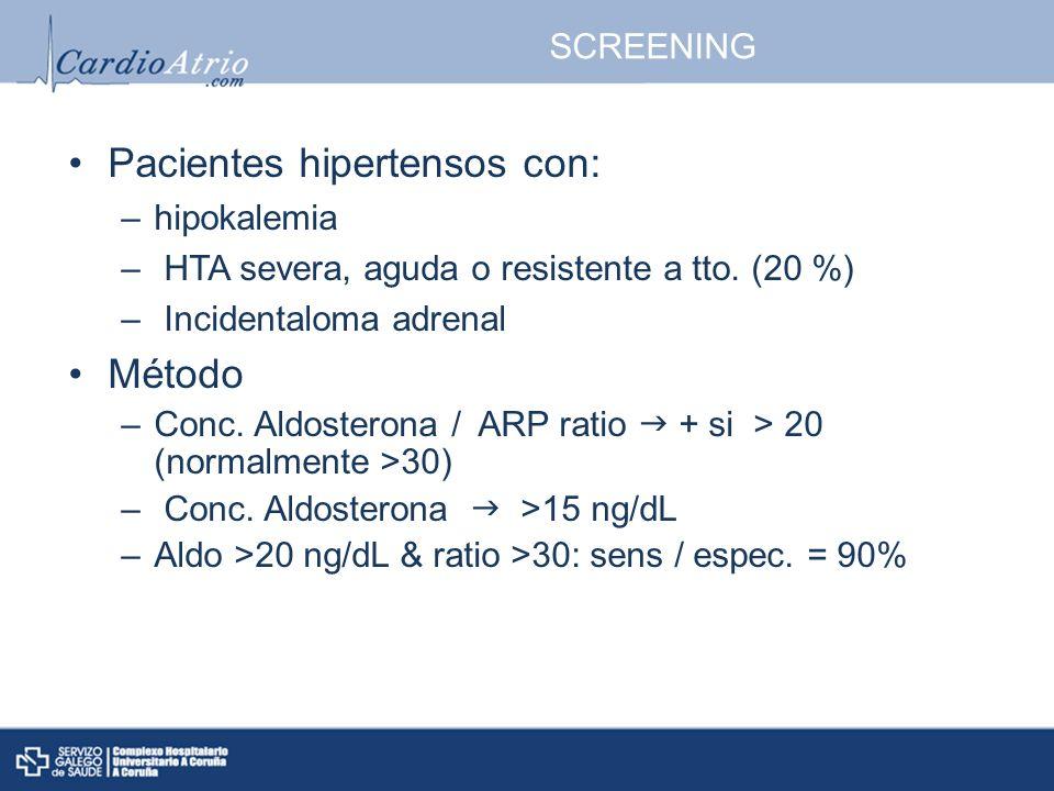 Pacientes hipertensos con: