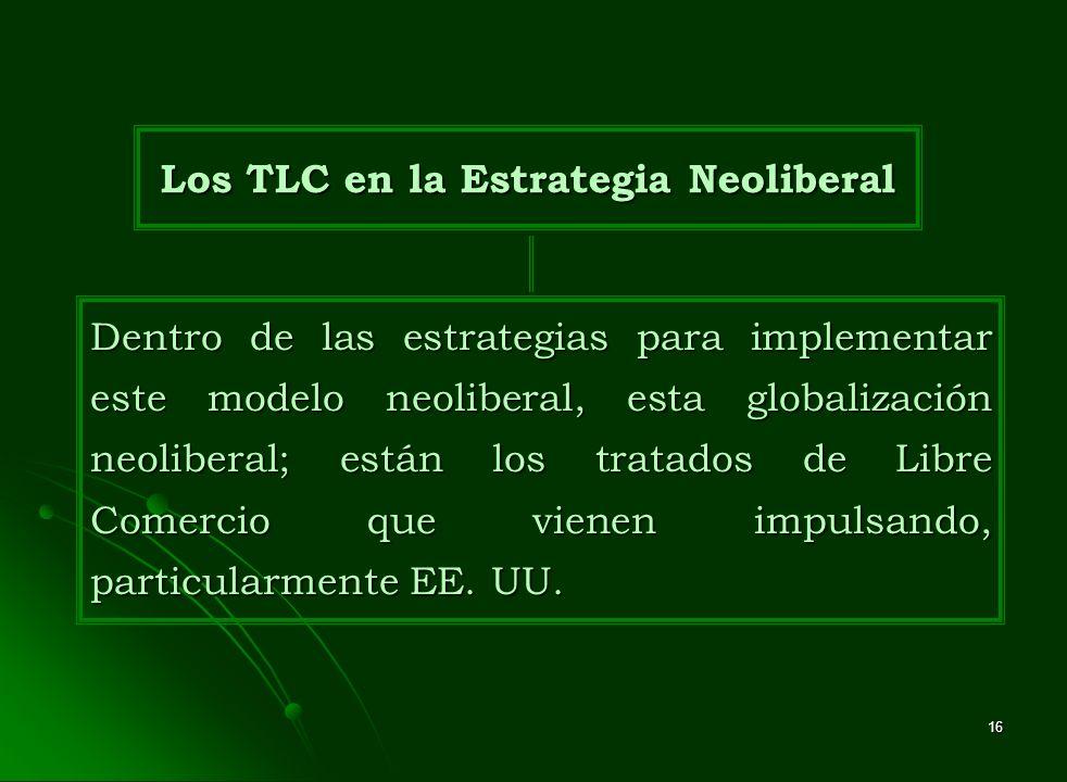 Los TLC en la Estrategia Neoliberal