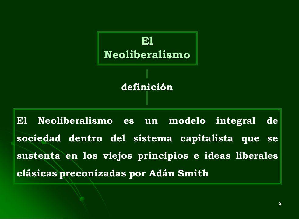 El Neoliberalismo definición