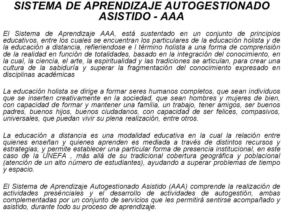 SISTEMA DE APRENDIZAJE AUTOGESTIONADO ASISTIDO - AAA
