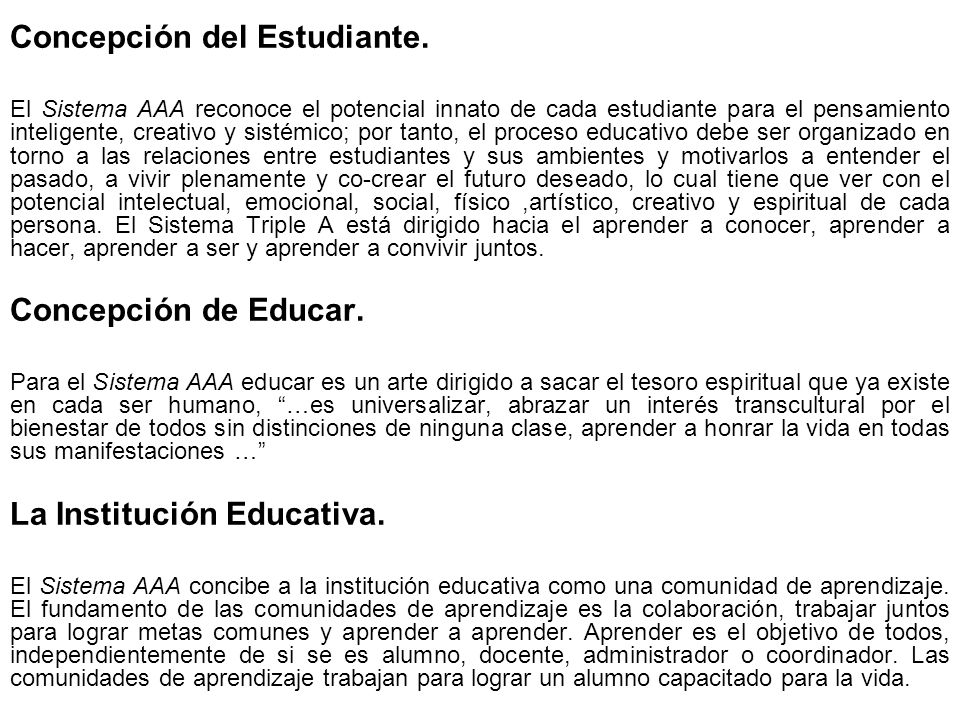 Concepción del Estudiante.