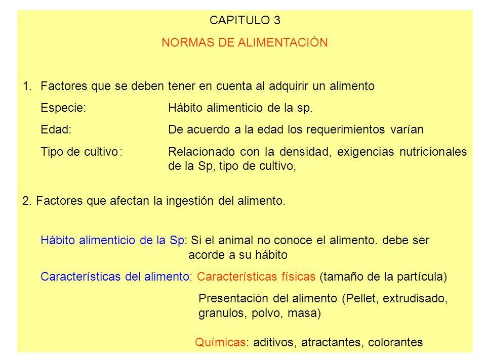 NORMAS DE ALIMENTACIÓN