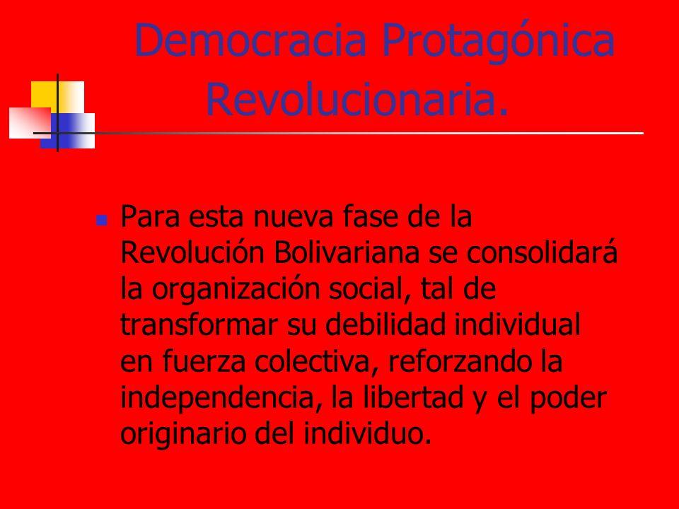 Democracia Protagónica Revolucionaria.