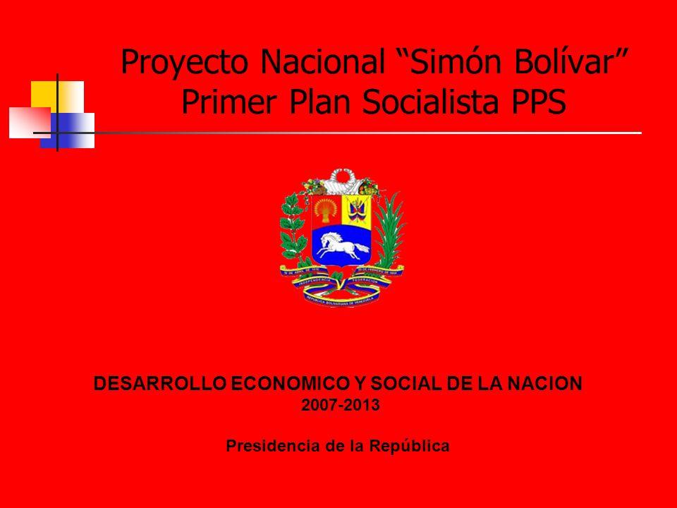 Proyecto Nacional Simón Bolívar Primer Plan Socialista PPS