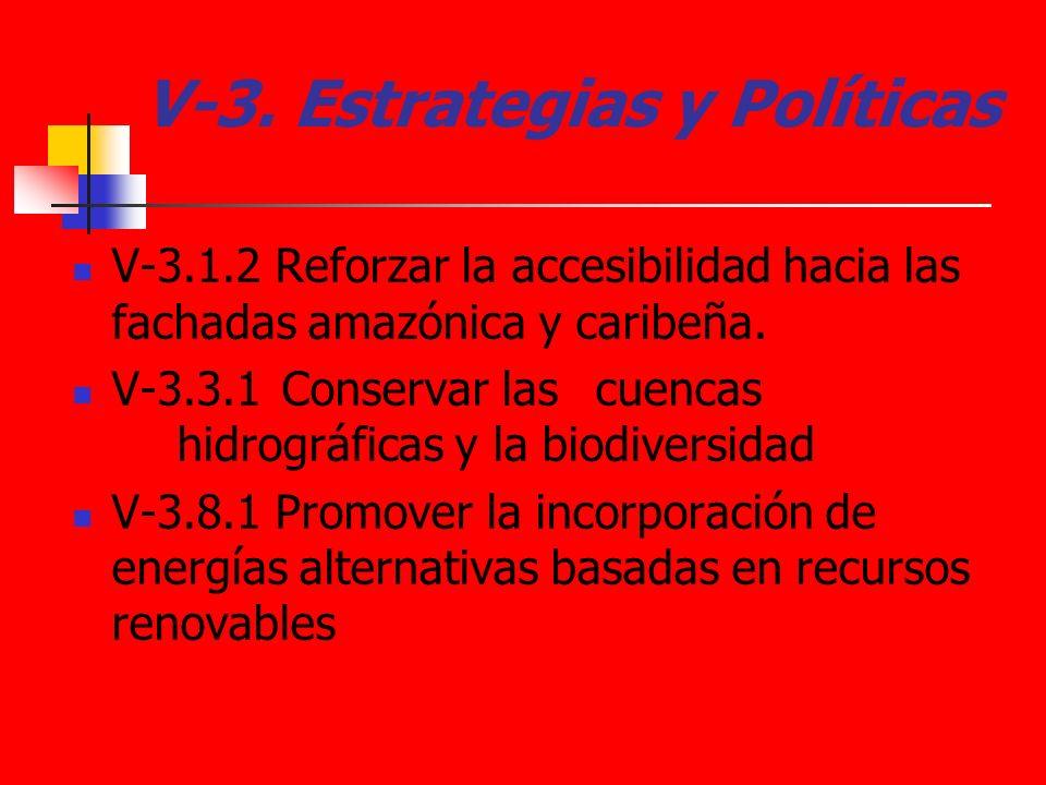 V-3. Estrategias y Políticas