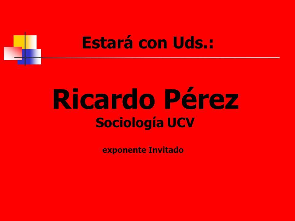 Ricardo Pérez Sociología UCV