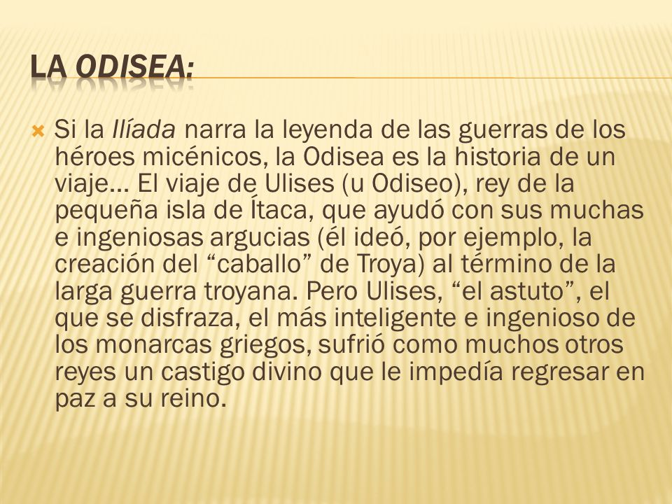 La Odisea: