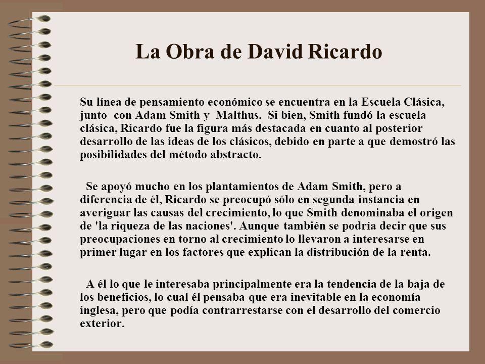 La Obra de David Ricardo