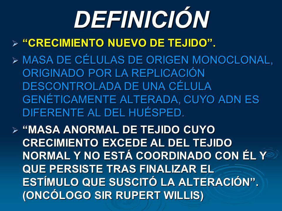 DEFINICIÓN CRECIMIENTO NUEVO DE TEJIDO .
