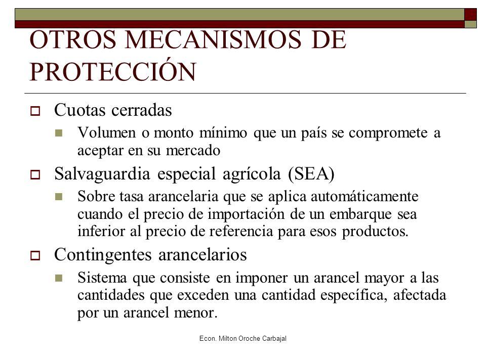 OTROS MECANISMOS DE PROTECCIÓN