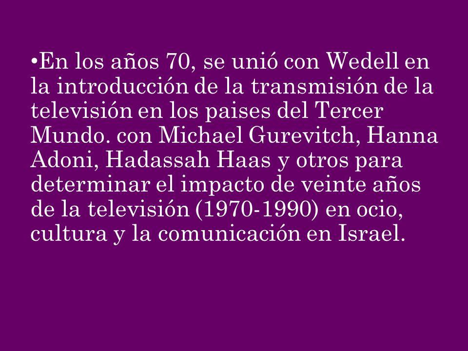 En los años 70, se unió con Wedell en la introducción de la transmisión de la televisión en los paises del Tercer Mundo.