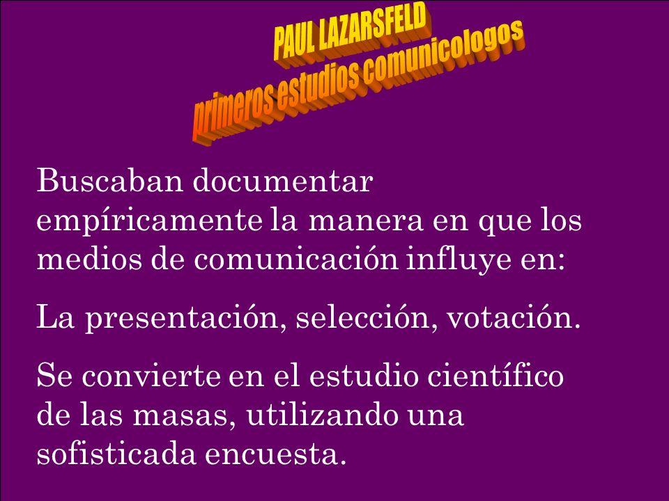 primeros estudios comunicologos