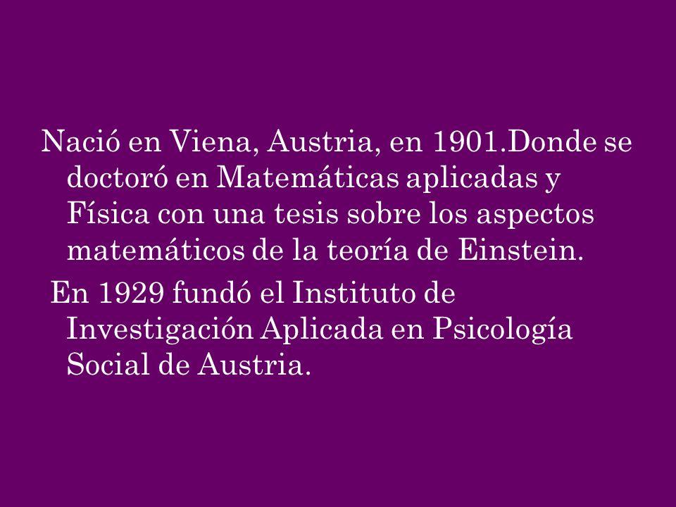 Nació en Viena, Austria, en 1901