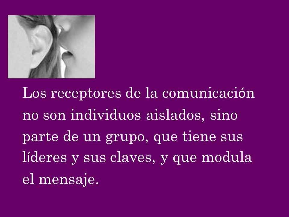 Los receptores de la comunicación
