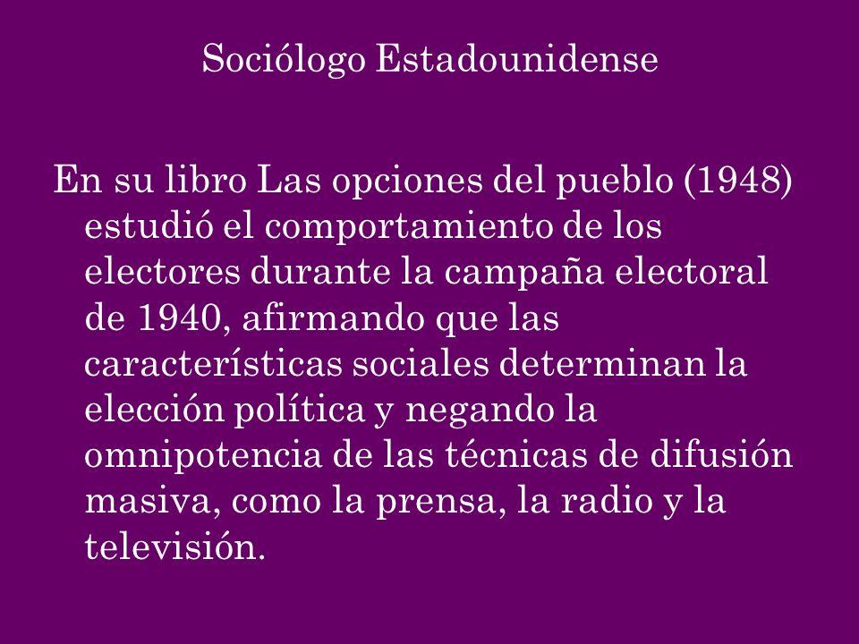 Sociólogo Estadounidense
