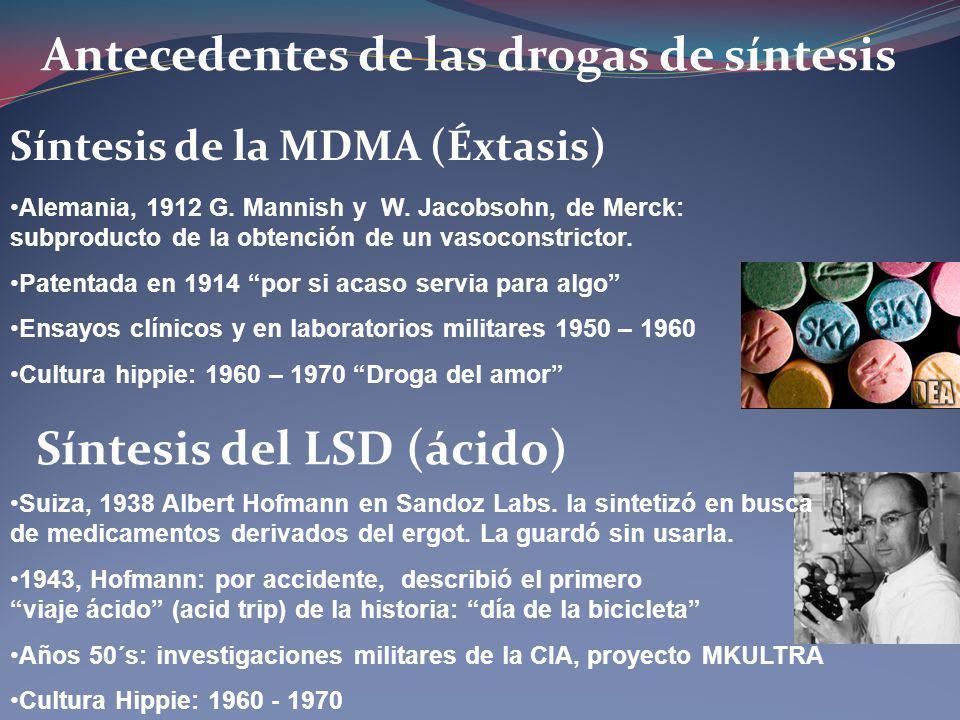 Antecedentes de las drogas de síntesis