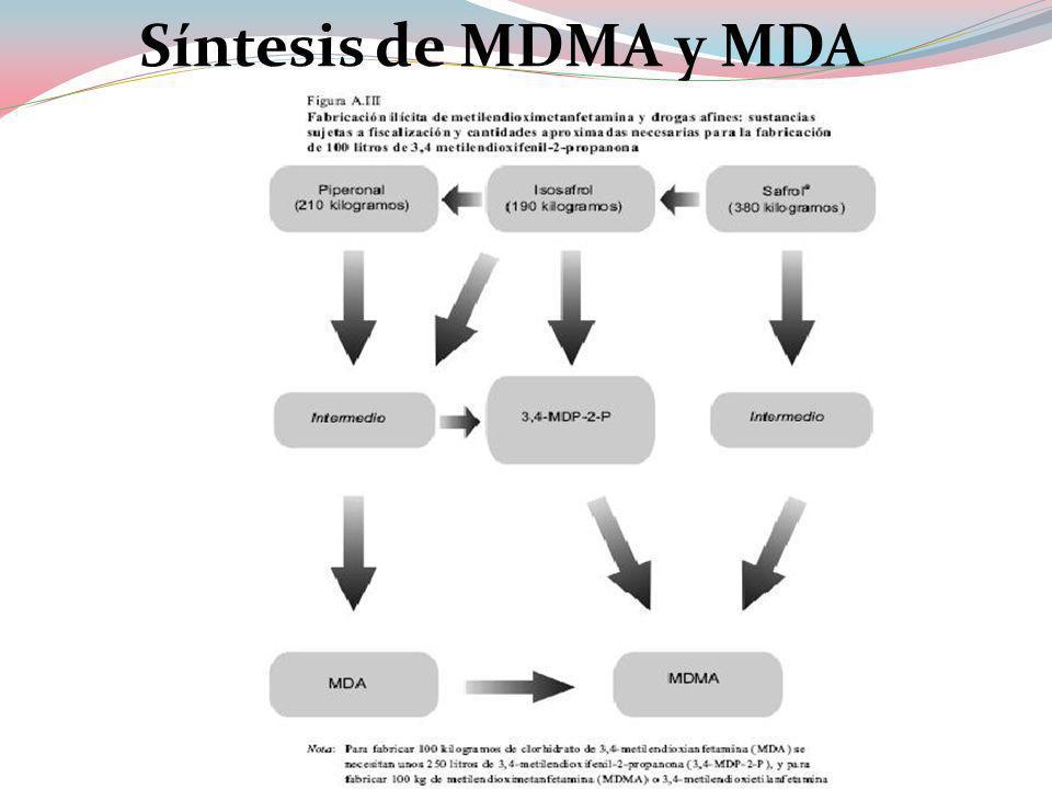 Síntesis de MDMA y MDA