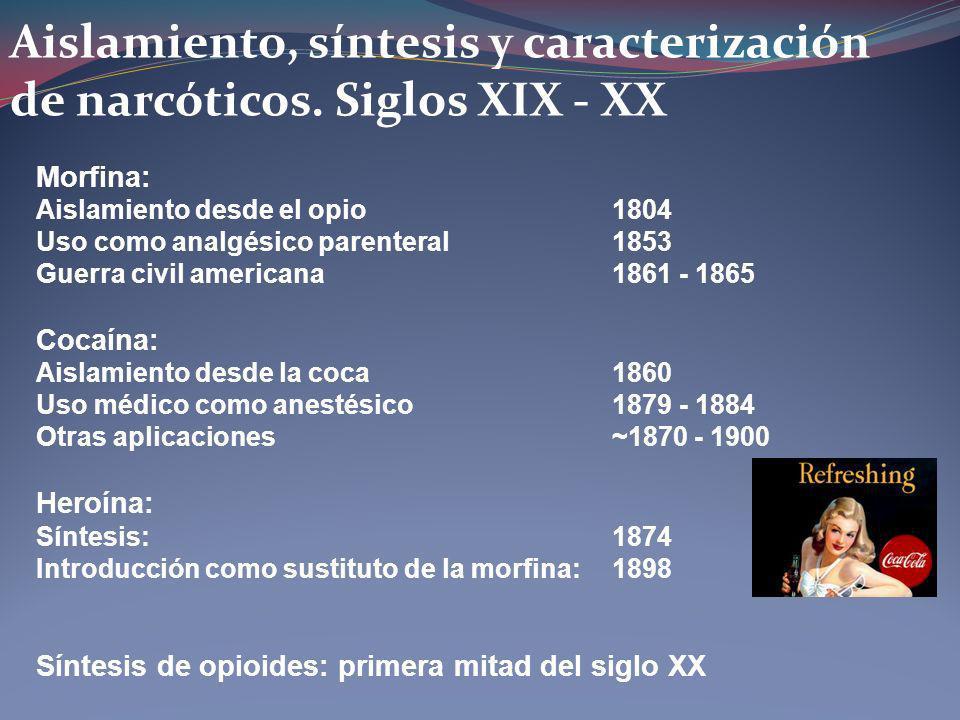 Aislamiento, síntesis y caracterización de narcóticos. Siglos XIX - XX