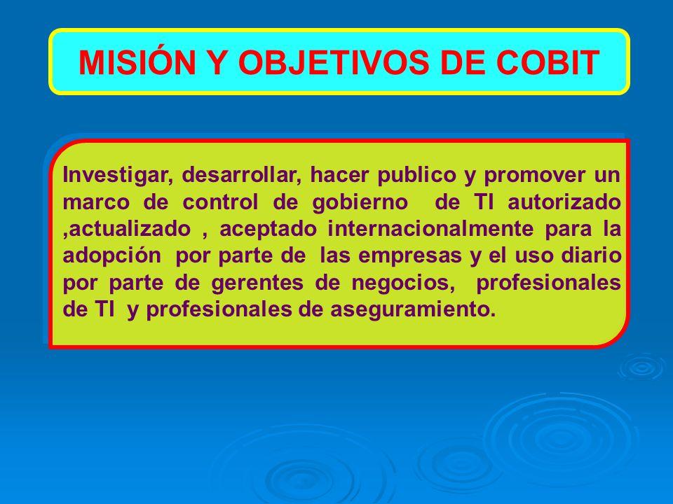 MISIÓN Y OBJETIVOS DE COBIT