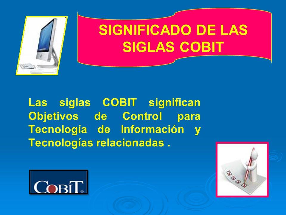 SIGNIFICADO DE LAS SIGLAS COBIT