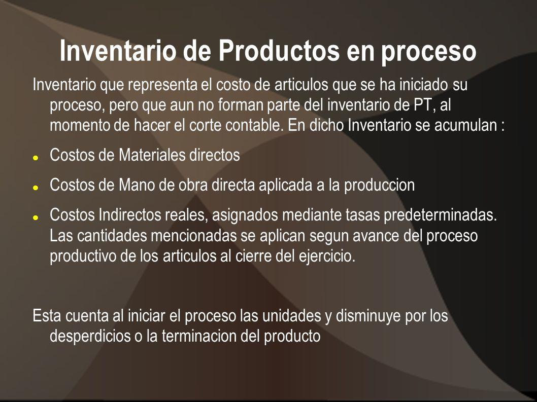 Inventario de Productos en proceso