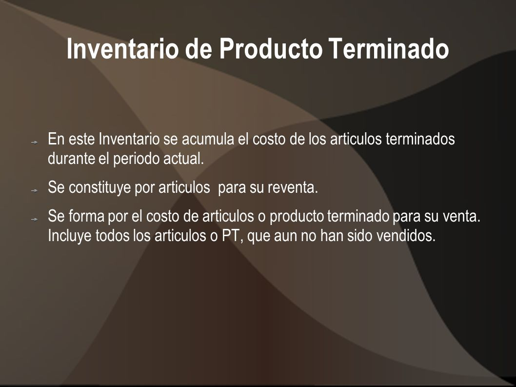 Inventario de Producto Terminado