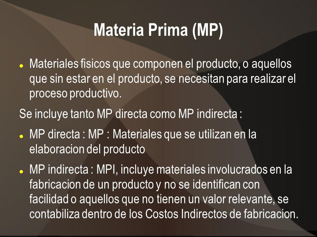 Materia Prima (MP)